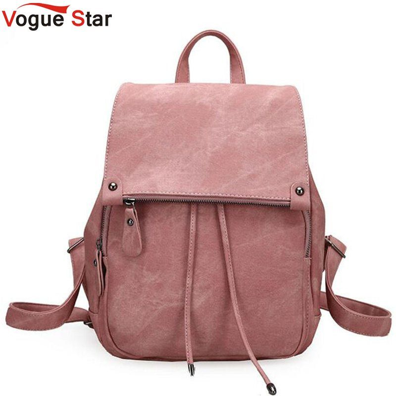 women backpack simple style school bags for teengaers girls famous designer ladies high quality female leather backpack LB309