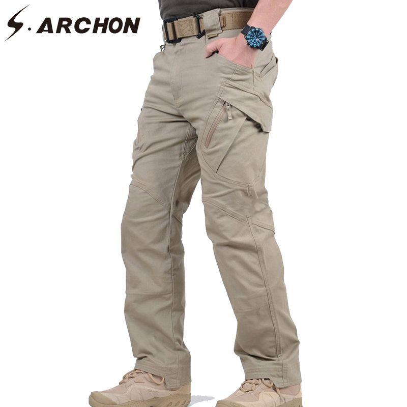 S.ARCHON IX9 City Military Tactical Cargo Pants Men SWAT Combat Army Trousers Male Casual Many Pockets Stretch Cotton Pants XXXL
