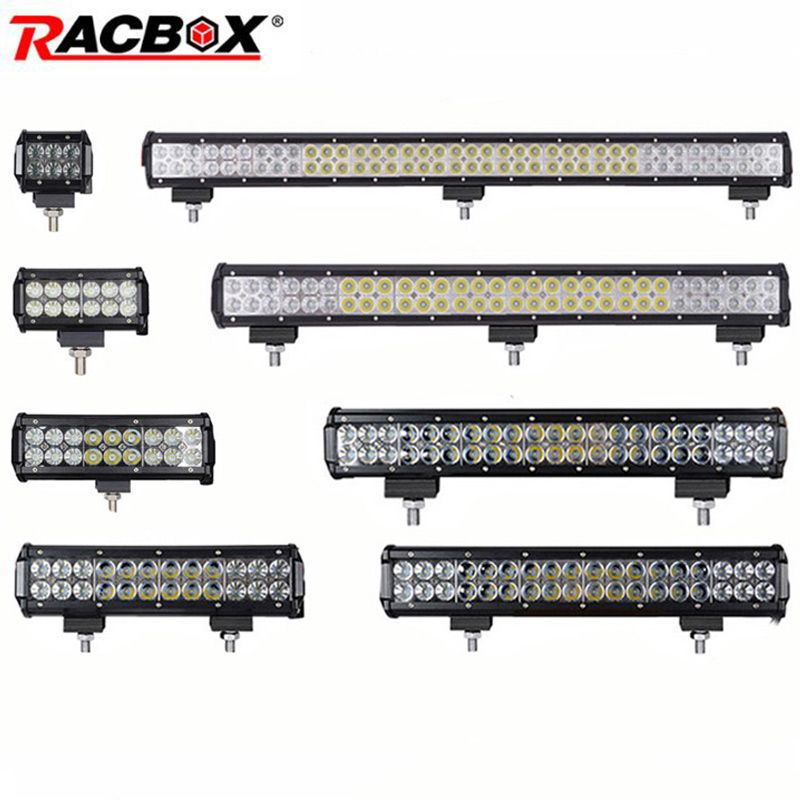 4 7 12 17 20 28 36 inch Offroad LED Bar Headlight Light Bar Foglight Combo Beam for 4x4 UAZ ATV Truck SUV 12V 24V LED Work Light