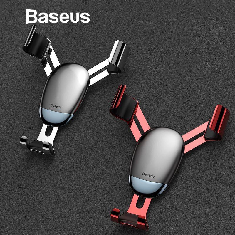 Baseus Universal Schwerkraft Auto Halter Air Vent Halterung Auto Handy Halter für iPhone XR XS Max Samsung Mini Handy halter Stehen