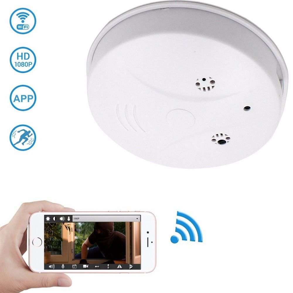 Spy Camera WiFi Hidden Camera Smoke Detector HD 1080P Motion Detection Activated Mini Video Recorder Security Camara
