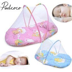 2018 Brand New Portabel Lipat Bayi Anak Bayi Tidur Dot Ritsleting Kelambu Tenda Boks Tidur Bantal dilipat portabel