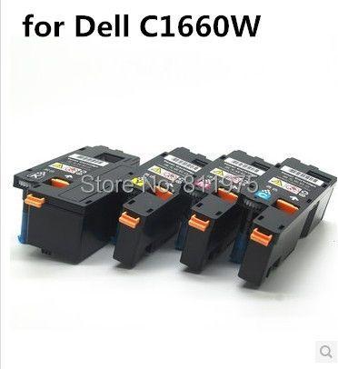 Kompatibel für Dell C1660W drucker tonerkassette 332-0399 332-0400 332-0401 332-0402 mit chip
