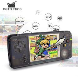 Data Frog retro consola de juegos de mano 3.0 pulgadas consola incorporada 818 juegos diferentes apoyo neogeo/GBC/FC /CP1/CP2/GB/GBA