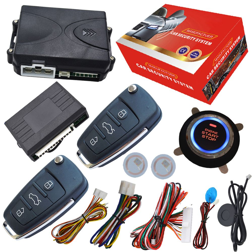cardot push button start stop system remote start stop by alarm remote supporting petrol&diesel mode arm or disarm car engine