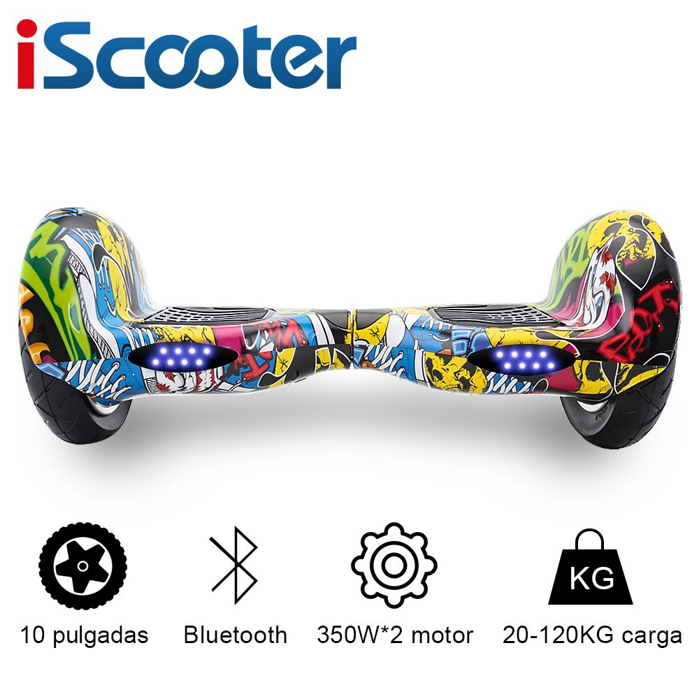 IScooter 10 zoll 2 Rädern Intelligente Elektrische Hoverboards 4400 mAh Batterie Selbst Balance Roller