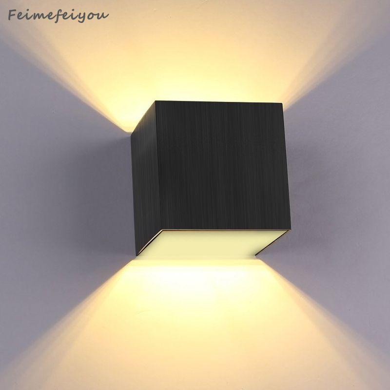 3 W mur LED rétro-éclairage étude chambre chevet hôtel couloir escaliers créatif couloir lumières 110-220 V carré 240 lumens