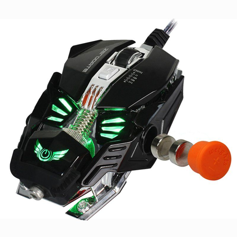 Mechanical Gaming Mouse 8 Button 2500DPI A5050 Chip Wired Mouse Gamer Macros Programming Optical Computer Mouse for Laptop PC