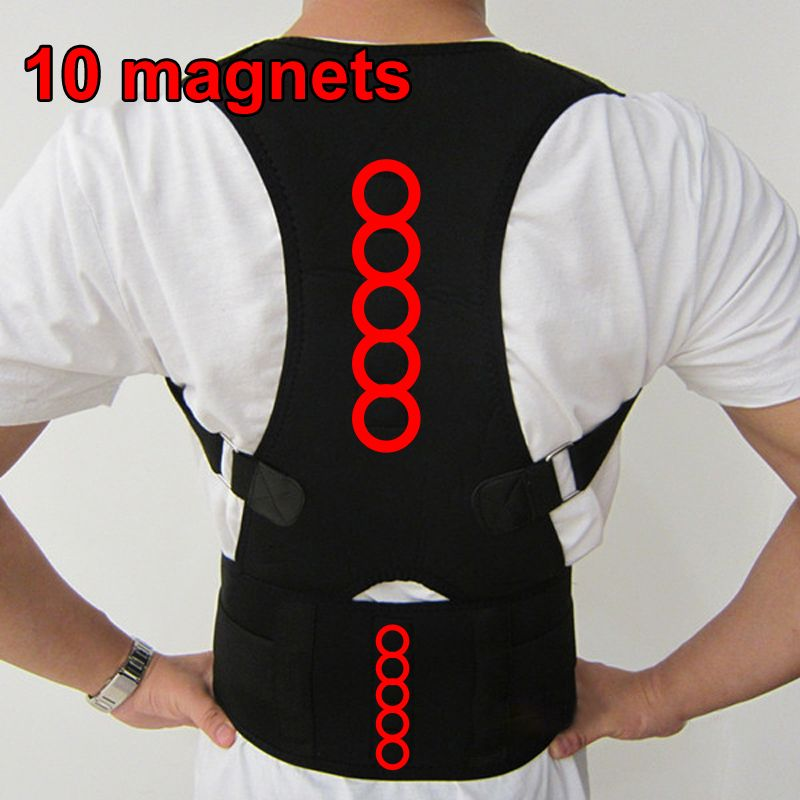 2018 Neoprene Back Support Sports Back Belts High Quality Back Supports Posture Correction Lumbar Support For Back Black Corsets