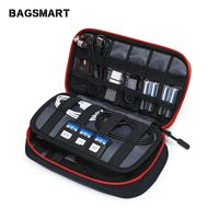 BAGSMART дорожные аксессуары электронные портативные сумки для телефона данные Cuble SD карта USB кабель наушники телефон зарядное устройство