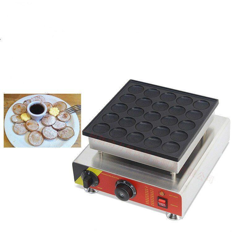 110 v 220 v 25 Löcher Poffertjes Grill Dutch Waffeleisen Mini Pfannkuchen Maschine