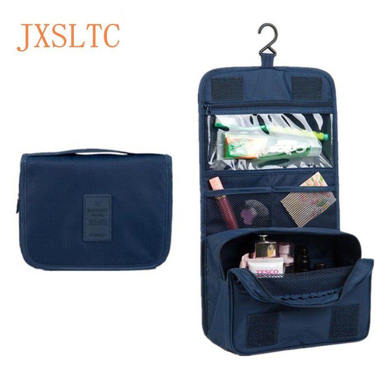 JXSLTC le sac de cosmétiques Portable suspendus organisateur de sac cosmétique pour la salle de bain simple douche toilette lavage Kit de voyage sac