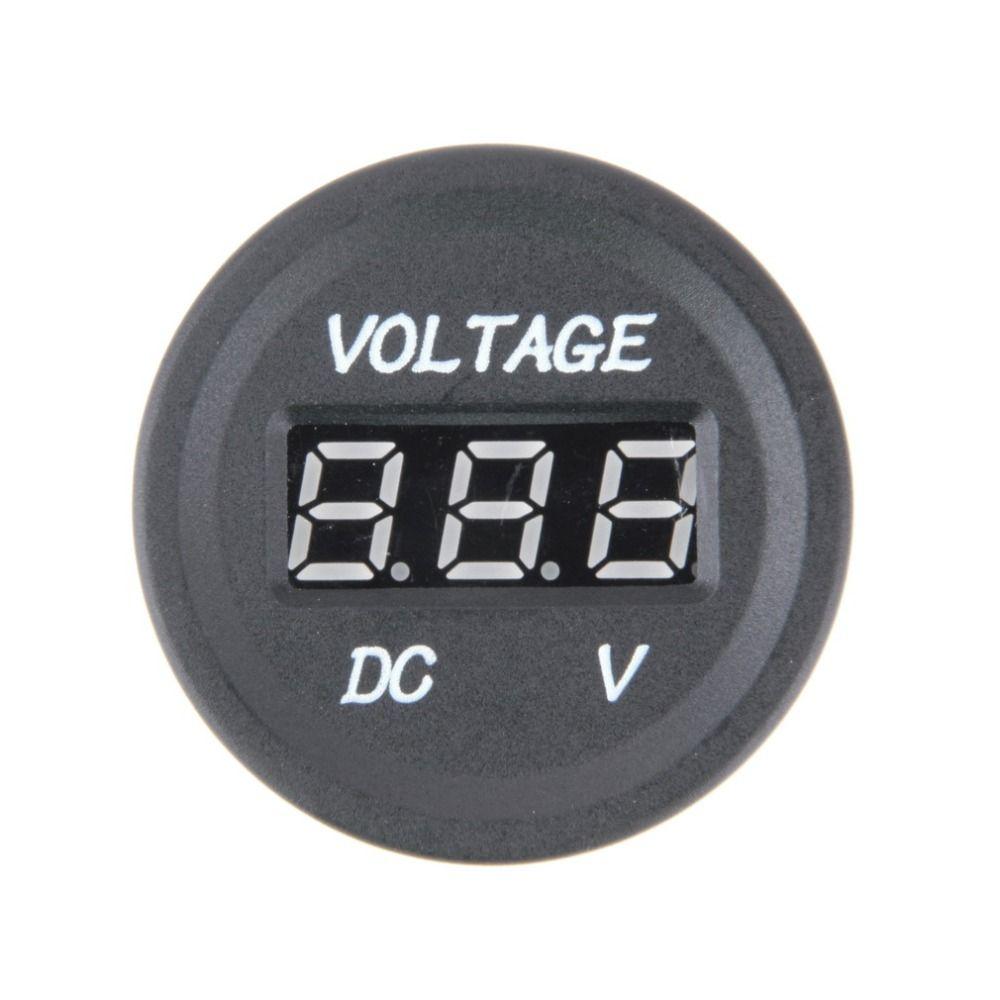 Professionelle Schwarz 12 V-24 V DC Led-digitalanzeige Auto Auto Motorrad voltmeter Metro Wasserdichte Voltmeter Sockel