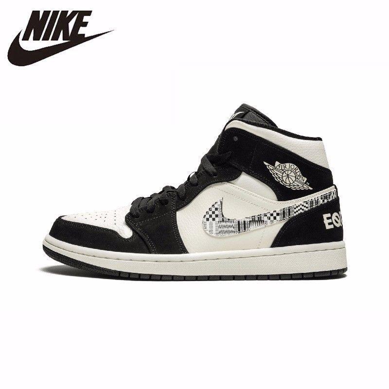 Nike Offizielle Air Jordan 1 Männer Basketball Schuhe Leder Sport Im Freien Sneaker Neue Ankunft #852542