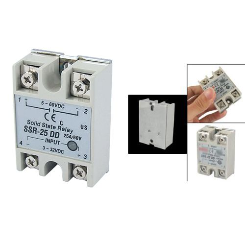Promotion! New Plastic Metal Solid State Relay SSR DC-DC 25A 3-32VDC/5-60VDC