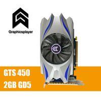 Для ПК PCI-E 2 ГБ DDR5 128Bit GTS450 Графика карты вентилятор пласа-де-video carte graphique видеокарта Nvidia для GTS450 DVI