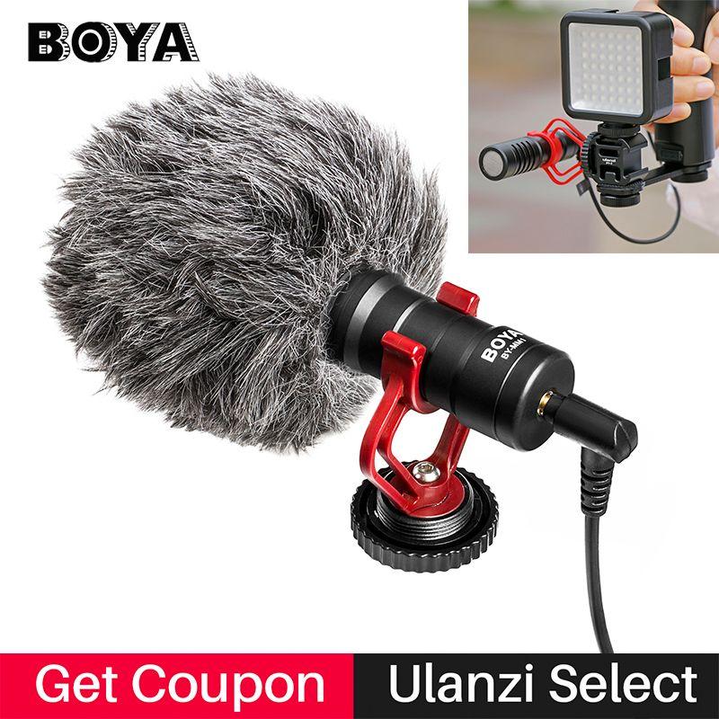 BOYA BY-MM1 VideoMicro Condenser Microphone on-camera Vlogging Recording Microfone for iPhone Nikon Canon DSLR Camera Gimbal