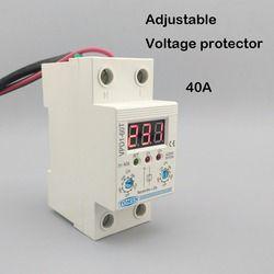 40A 220 В регулируемые автоматические повторно перенапряжения и под напряжением устройство защиты реле с Вольтметр монитор напряжения