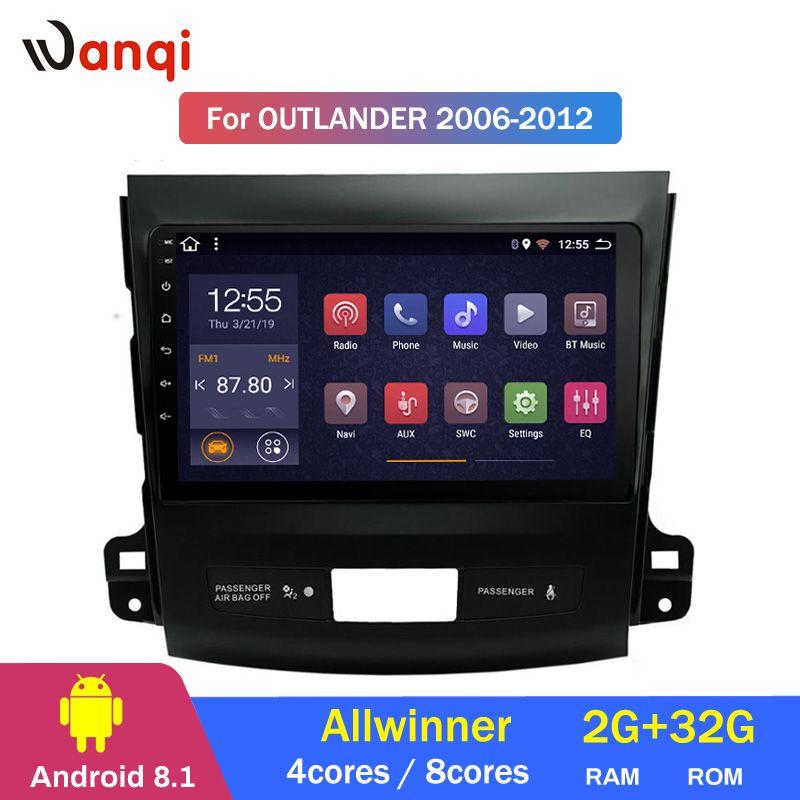 2G RAM 32G ROM 9 zoll Android 8.1 auto multimedia-system Für Mitsubishi Outlander 2006-2012 gps navigation