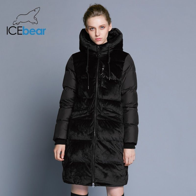 ICEbear2018 new high quality winter velvet jacket thick warm women's parka clothing fashion casual women's brand coat GWD18080