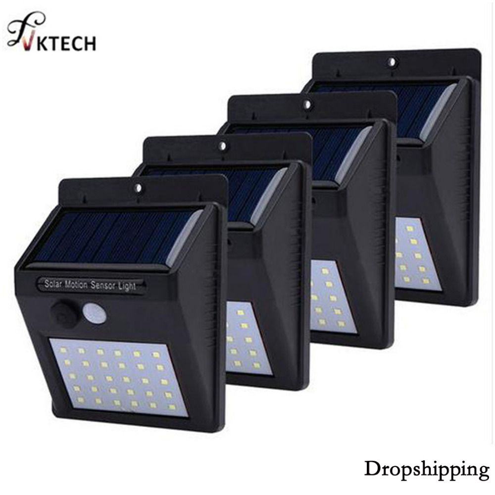 1-4Pcs 20/30 LED Solar Light PIR Motion Sensor Waterproof Outdoor Energy Saving Street Yard Path Solar Garden Light Lamp