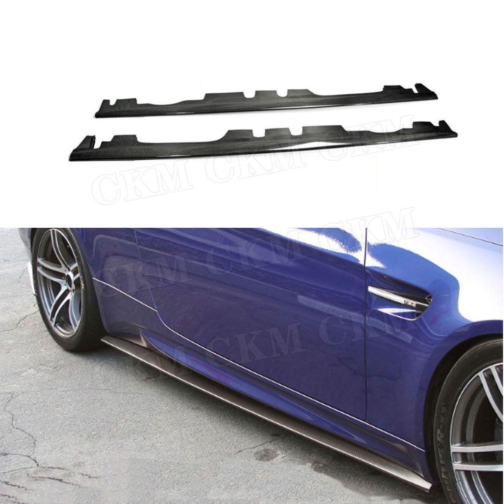 3 serie Carbon Side Röcke Tür Schürzen Für BMW 3 Serie E92 E93 M3 2008-2013 seite Stoßstange sill Streifen protector