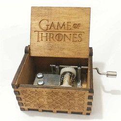 Juego de tronos música caja craved madera tema música caja Harry Potter de musica Regalo de Cumpleaños inicio decorgadget