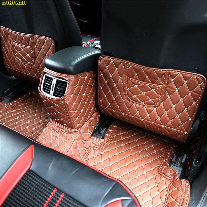 Luhuezu Leather Car Auto Center Console Armrest Pad Cover For Hyundai Tucson  2015 2016 2017 Accessories