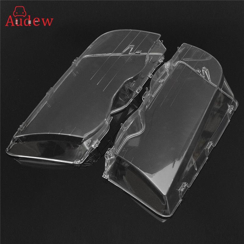 2Pcs Transparent Car Housing Headlight Lens Shell Cover Lamp Assembly For BMW E46 3-Series /4DR /Wagon /Sedan 1999 -2001