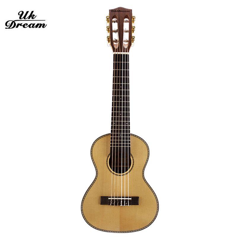 28 inch Six string Acoustic guitar Ukulele Wooden Classical 18 tone Guitars mini travel Guitar Instruments guitalele UJ-513