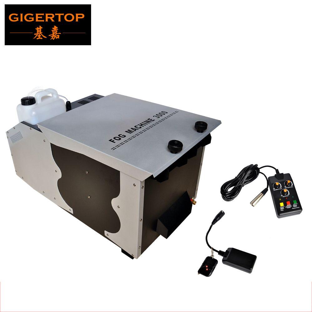 Freies Verschiffen 1500 watt/3000 watt Große Niedrigen Nebel Maschine DMX 512 + Fernbedienung Riesige Nebel Maschine Niedrigen -boden 3000 watt Rauch Maschine TP-T63