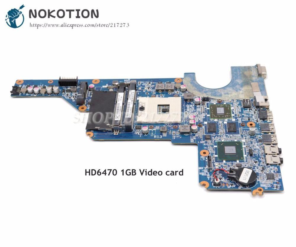 NOKOTION 650199-001 636375-001 HAUPTPLATINE Für HP Pavilion G4 G6 G7 Laptop Motherboard HM65 DDR3 HD6470 1 gb grafikkarte Kostenloser CPU