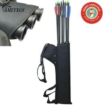 الرماية الأسود جعبة 3 أنابيب السهم جعبة أنبوب السهم حامل المحمولة عودة/الخصر سترابي حقيبة صيد اكسسوارات اطلاق النار