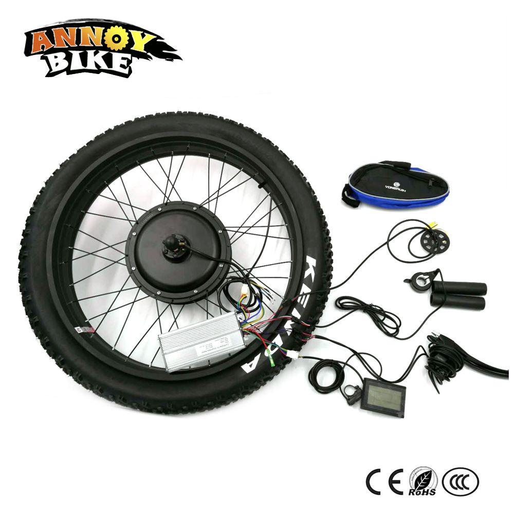 Rear Drive Ebike 48V 1000W Electric Bicycle Fat snow Bike Conversion Kit 24