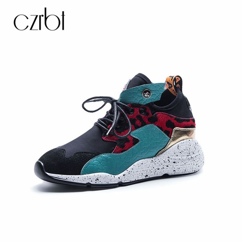 CZRBT Women Platform Sneakers Casual Shoes 2018 Spring Autumn Lace-Up Shoes Plus Size Narrow Band Breathable Female Fashion Flat