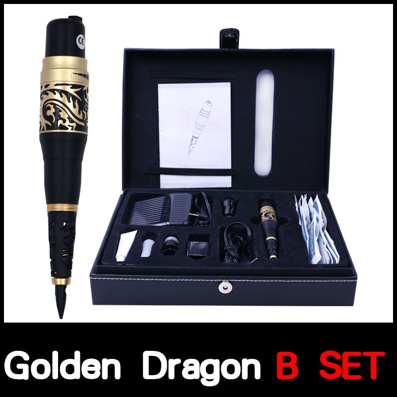 Professional Permanent Makeup Golden Dragon tattoo Machine kits Taiwan Original Permanent Makeup Machine high quality tattoo gun