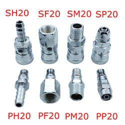 SP20/PP20/SM20/PM20/SH20/PH20/SF20/PF20 Pneumatic fittings Air Compressor Hose Quick Coupler Plug Socket Connector
