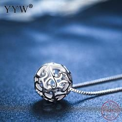 2018 Spring Summer Hot Silver 925 Jewelry Pendant for Necklace Round Hollow Kolye bijoux en argent 925 Fine Jewelry As For Gift