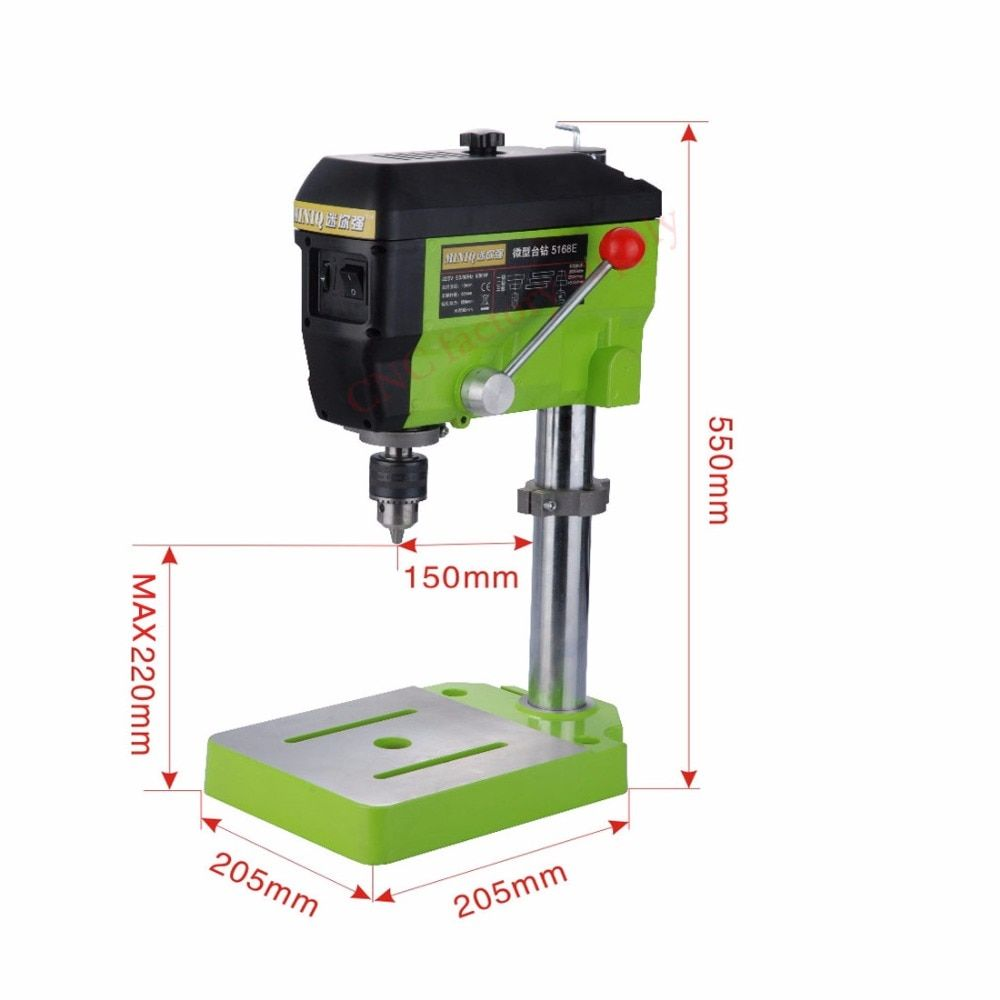 Worktable Electric Drilling Machine Variable Speed Micro Drill Press Grinder 1pc BG-5168E+1pc BG6350+1pc 2.5