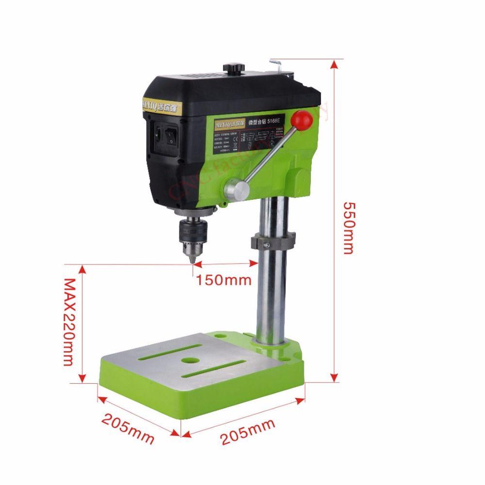 Worktable Electric Drilling Machine Variable Speed Micro Drill Press Grinder 1pc BG-5168E+1pc BG6350+1pc 2.5