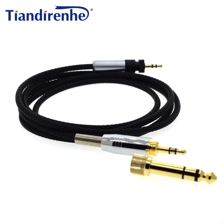 Câble de casque amélioré pour SHURE 840 SRH440 SRH940 SRH750DJ fil Audio de remplacement de casque 6.35/3.5mm mâle à 2.5mm mâle
