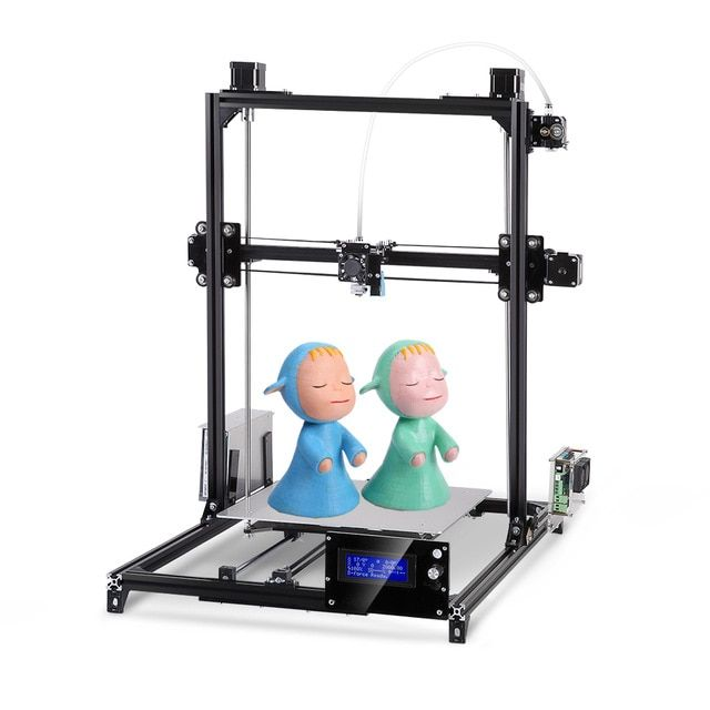I3 3d Printer Plus Printing Size Touch Screen Dual Extruder Auto Leveling Heated Bed One Rolls Filament DIY 3D Printer Kit