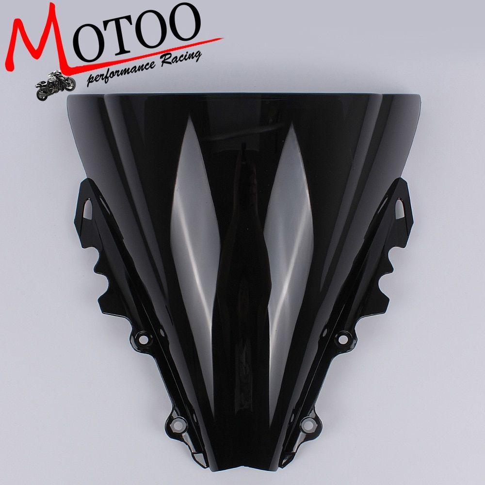 Motoo - Motorcycle Wind Deflectors Wind shield Windshield WindScreen Double Bubble for YAMAHA YZF-R6 R6 2006 2007