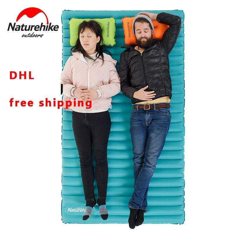 2017 NatureHike Inflatable Mattress for 2~3 Person 200x120/140x9.5cm Big Size Portable Air Pad NH17T120-U