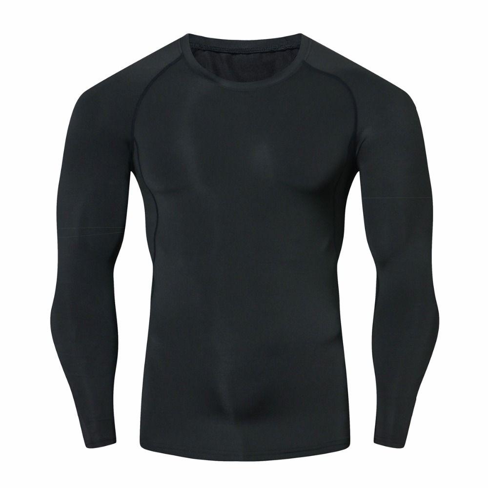Hommes Compression chemises MMA Rashguard garder en forme Fitness manches longues couche de Base peau serré musculation élastique t-shirts Homme