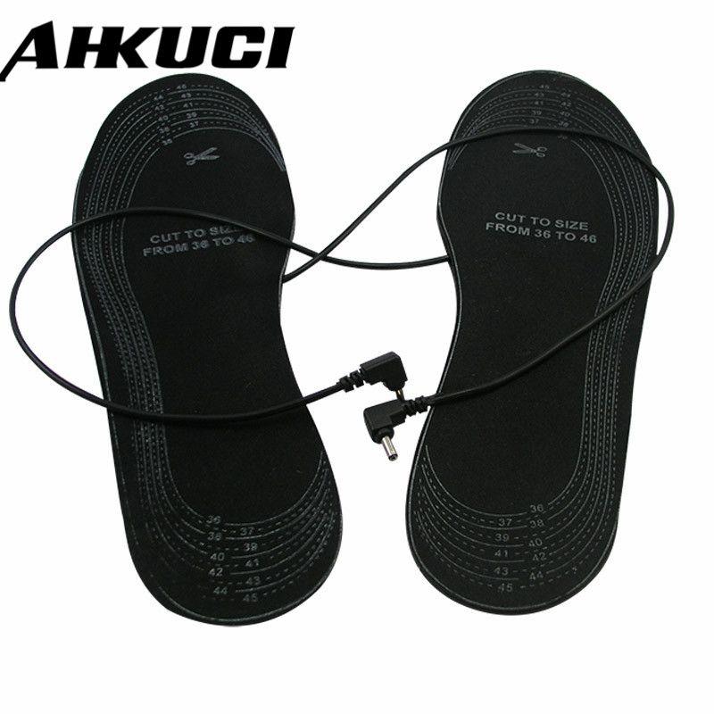 Électrique Mules Sabots chaussures pour la taille 38-46 EVA Matériel Réchauffement Flexible Noir Marche chauffée semelles