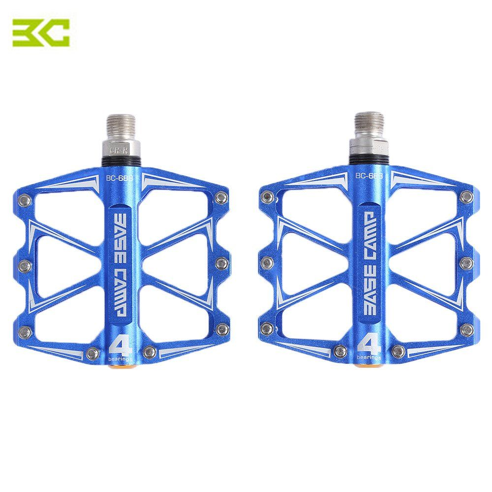 BaseCamp BC - 688 Mountain Bike Bicycle Pedal MTB Flat Pedals Aluminum Alloy 4 <font><b>Ball</b></font> Bearings Ultralight Bicycle Accessory Parts