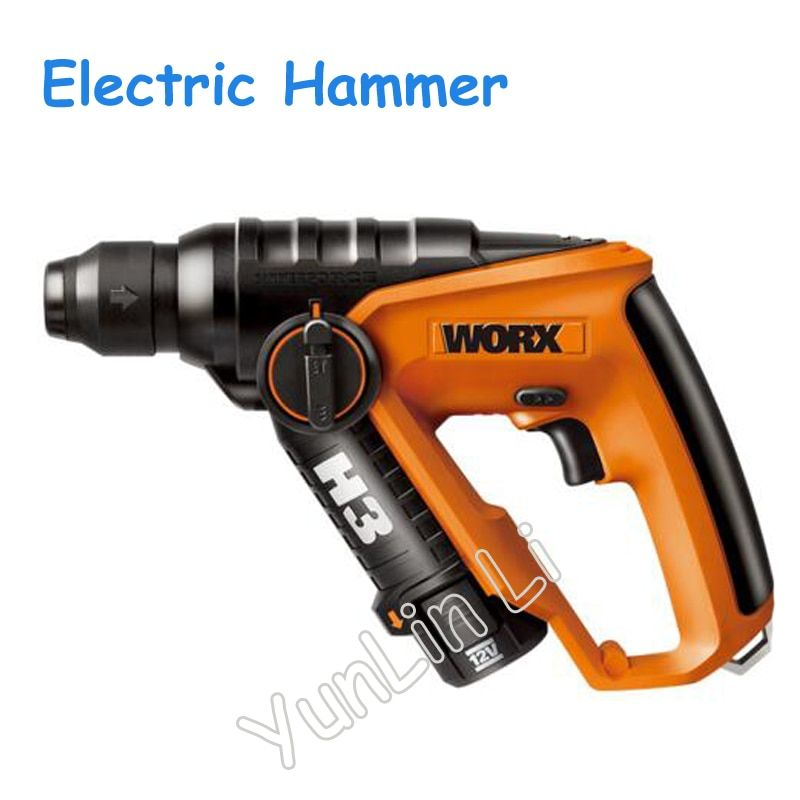 Multi-function Electric Hammer 12V Light Charging Hammer Impact Drill Tools with Forward and Reverse Button WX382