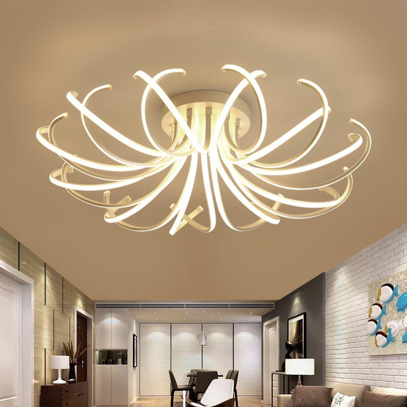 Новое поступление современный светодиодный потолочный Люстра Светильники для гостиной спальня столовая кабинет Алюминий светодиодные ла...