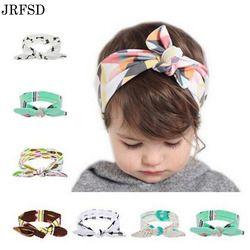 JRFSD enfants Fleur Floral Filles Bandeau Turban Lapin Arc noeud Bandeaux Chapeaux Élastique Cheveux Bandes de Cheveux Accessoires Pour Les Filles